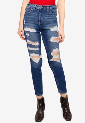 Hollister blue High Rise Super Skinny Jeans 470A4AAD5E32C0GS_1