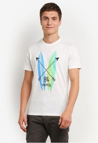 MANGO Man white Printed Cotton T-Shirt MA449AA0RMKGMY_1