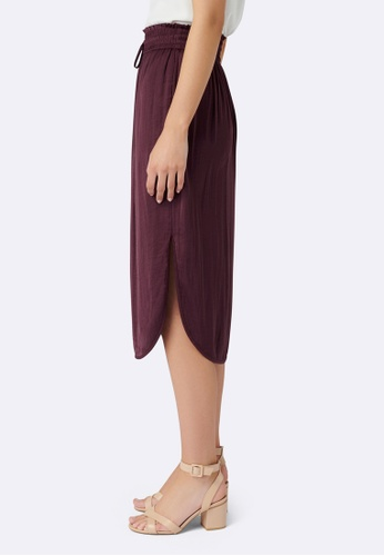 ea8a57cda5 Buy Forever New Cara Ruched Waist Midi Skirt Online on ZALORA Singapore