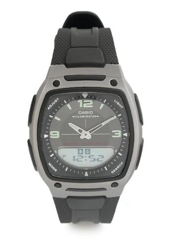 Casio black Casio Jam Tangan Pria - Black Grey - Resin - AW-81-1A1VDF  281DBACD3DE0B3GS_1