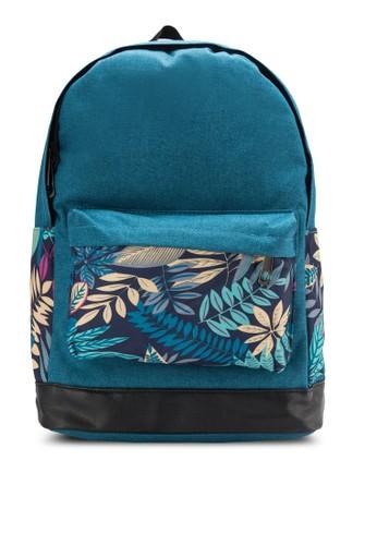 彩色葉子帆布後背包, esprit 價位韓系時尚, 梳妝