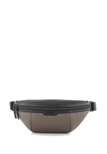 Braun Buffel grey Mister Medium Waist Pouch in Cement 3D704ACFA5B72BGS_1
