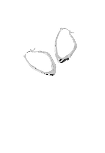 Glamorousky silver 925 Sterling Silver Simple Personality Irregular Geometric Stud Earrings A8D98AC584572EGS_1