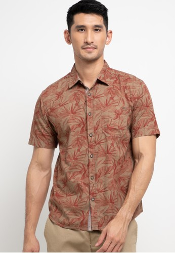 Watchout! Casual orange and brown Cullross Printed Shirt 66323AA50EA83AGS_1
