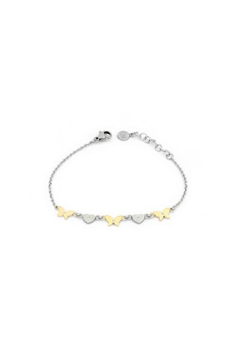 Morellato silver Insieme Bracelet SAHM09 Stainless Steel PVD Gold Crystals BF67FAC6CDE468GS_1