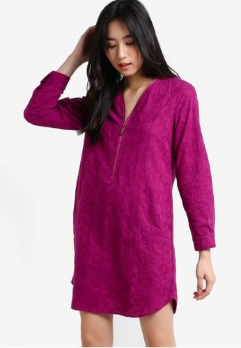 Geb. purple Long Sleeve Dress GE945AA09XDUMY_1