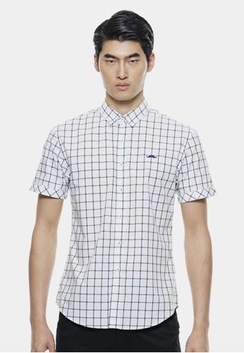 Private Stitch white Classic Checker Shirt with Contrast Signature Mustache Logo PR777AA66SUZMY_1