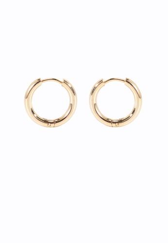 We Enjoy Simplicity 金色 Classic Hoop Earring (Gold) 58F16AC3FA15B5GS_1