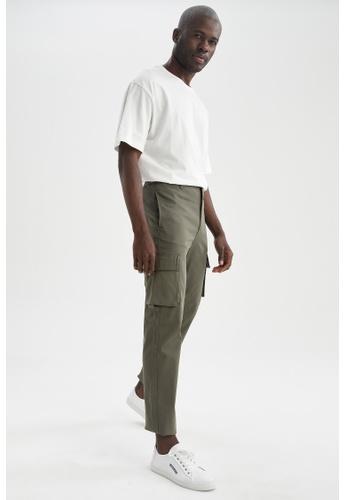 DeFacto green Regular Trousers 0B4A3AA4CD29ABGS_1