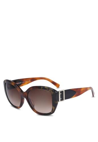 Burberry grey Burberry BE4248F Sunglasses BU958GL0ROS1MY_1