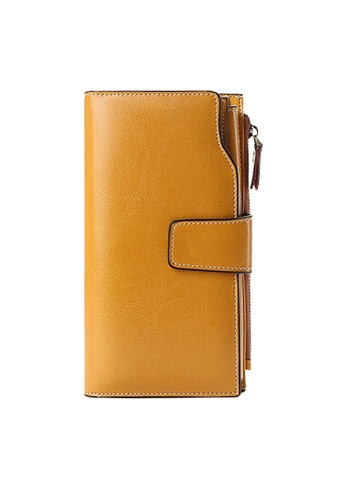 Twenty Eight Shoes yellow VANSA Burnished Leather Bi-Fold Long Wallet VBW-Wt5156 B5BBAAC1F07F60GS_1