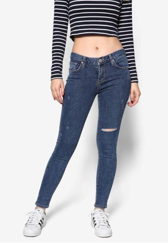 刷破丹寧窄管褲, 服飾, esprit hk store牛仔褲