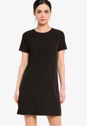 ZALORA WORK black Mini Shift Dress 07EA6AABDD11AFGS_1