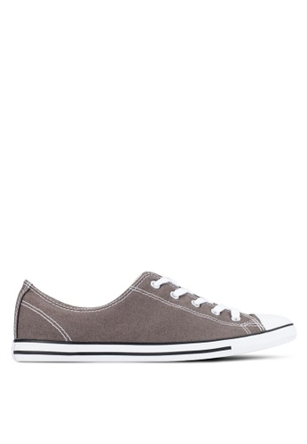 Converse grey Chuck Taylor All Star Dainty Ox Sneakers CO302SH0RDWEMY_1
