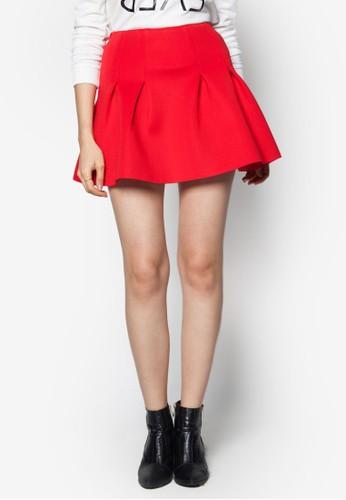 簡約褶藝傘狀短裙, 服飾zalora 手錶 評價, 裙子