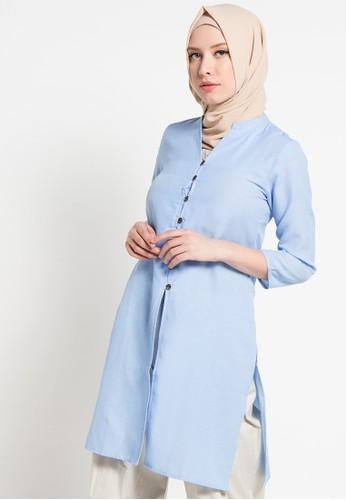 AZZAR blue Olivia Shirt AZ485AA42ARPID_1