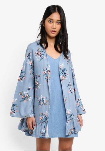 Cotton On blue Flora Frill Kimono 06093AA151B3C1GS_1
