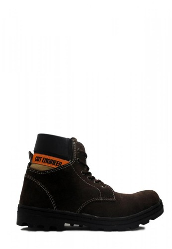 Cut Engineer brown Cut Engineer Shoes Vone Iron Safety Boots Suede Dark Brown CCE18SHDD1ADE9GS_1