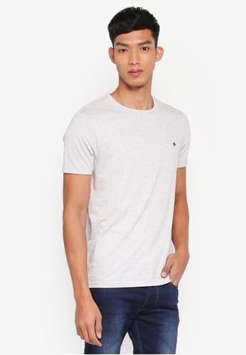 Burton Menswear London 米褐色 混色休閒口袋T恤 DD8C1AA2F0D9CDGS_1