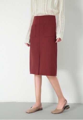 c5b1b37a6bcc LYCKA red LL11233 Korean Style Autumn-Winter Slim Midi Skirt -Red -S  LY256AA2VQ9PHK_1