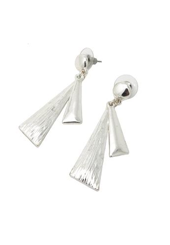 Jaysa Collection silver Snow Silver Dangle Earrings JA875AC73PMKSG_1