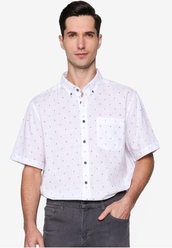 LC Waikiki 白色 Figured Short Sleeve Shirt 00F55AA13009F2GS_1