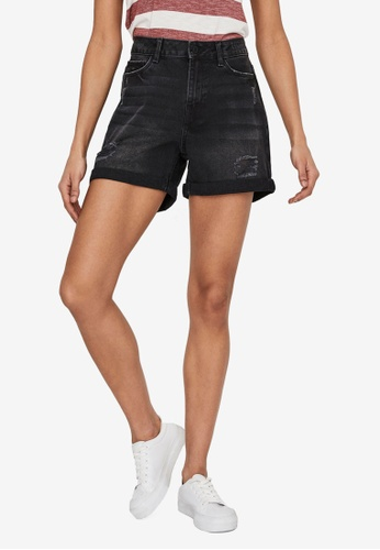 Noisy May black Smiley Dest Shorts 43F79AAE1C54DCGS_1