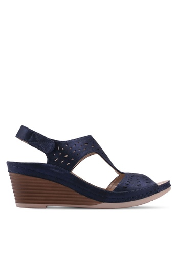 Noveni navy Strappy Wedges F4950SH86135AEGS_1