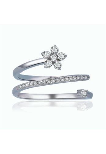 Vivere Rosse silver Spiral Silver Star Ring VI014AC29TBEMY_1