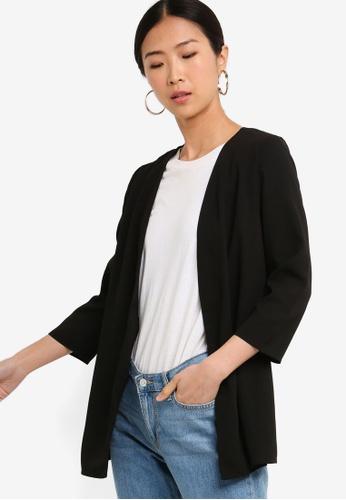 ZALORA BASICS black Basic Short Kimono CDC98AA6746263GS_1
