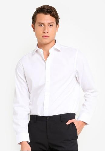 H&M white Premium Cotton Poplin Shirt 51F6FAA50A2328GS_1