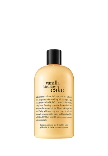 Philosophy Yellow Vanilla Birthday Cake Shampoo Shower Gel Bubble Bath 480ml 59E6CBECA43DB5GS 1