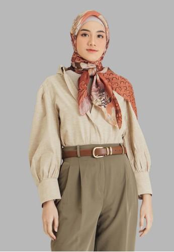 Seradia red and multi Seradia Hijab Segi Empat Carmine Inaaya 3E61EAAC4066B0GS_1