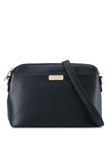 Unisa black Faux Leather Shell Shape Sling Bag UN821AC0SRV0MY_1