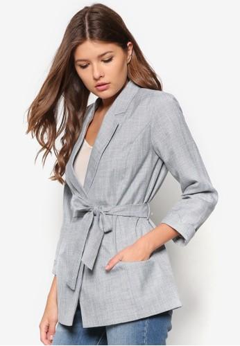 Petite 腰帶翻領外套, 服飾,zalora時尚購物網評價 外套