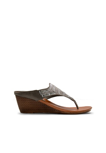 SEMBONIA grey SEMBONIA Synthetic Leather Wedges (Light Grey) A2484SH84A1F19GS_1