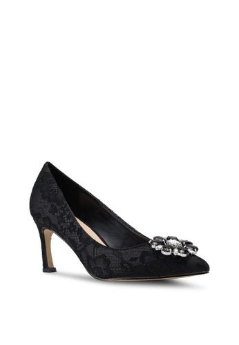 Velvet black Embellished Heels 7AFBESH151FD43GS_1