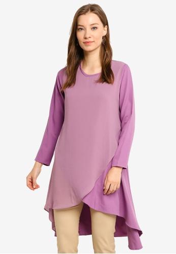 Aqeela Muslimah Wear purple Fishtail Top 3421AAA1813664GS_1
