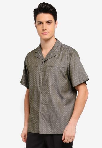 Zalia Homme 綠色 Short Sleeve Resort Shirt 87EDBAA9D7F3EDGS_1