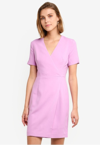 88b3e7f65f1 French Connection pink Whisper Ruth Wrap Dress 5F33AAAF5316EDGS 1