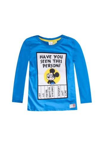 LC Waikiki blue Baby Boy's Mickey Mouse Printed T-Shirt 21AADKA60263FDGS_1