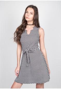 Belted Waffle Dress