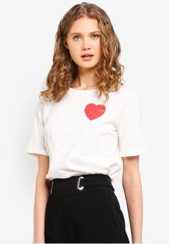 ESPRIT white Heart Short Sleeve T-Shirt 2CB3AAA8228138GS_1