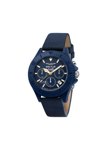 Sector blue SECTOR Save The Ocean Blue Leather Men's Watches R3271739001 3E724AC0F63815GS_1