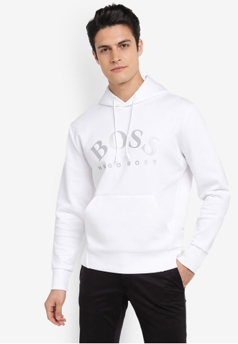 BOSS 白色 Sly Hooded Sweatshirt - Boss Athleisure BO517AA0SRB2MY_1