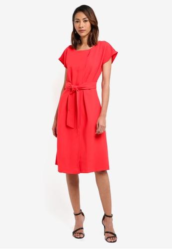 CLOSET red Wrap Kimono Dress D8A08AAB549092GS_1