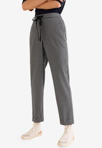 Mango navy Elastic Waist Trousers ABFC8AA654713FGS_1