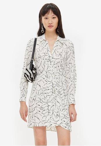 TOPSHOP white Obsession Twist Mini Dress A917EAA5244CD3GS_1