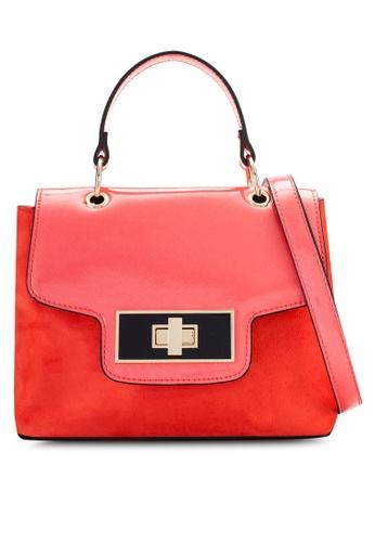 Dorothy Perkins pink Coral Top Handle Crossbody Bag DO816AC82BAVMY_1