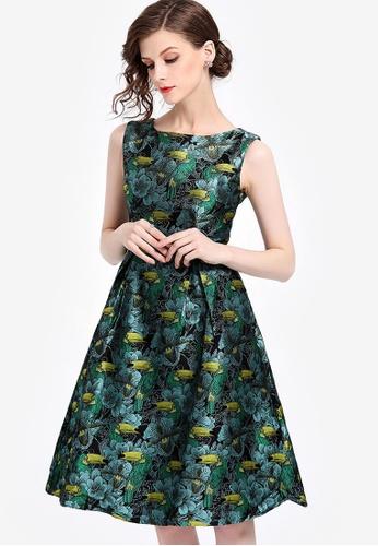 Sunnydaysweety multi Floral Sleeveless Tunic One Piece Dress FD9CEAAF58009BGS_1
